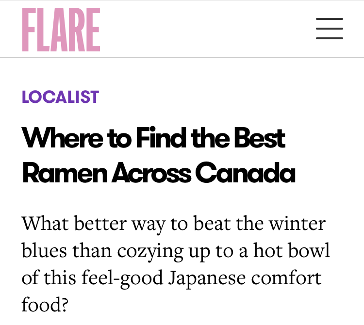 Where to Find the Best Ramen Across Canada