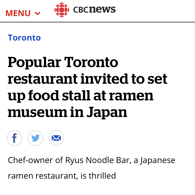 Popular Toronto restaurant invited to set up food stall at ramen museum in Japan